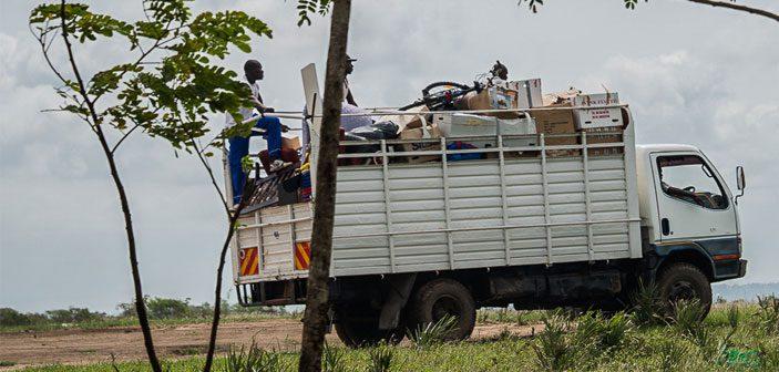 Mod Afrika med 20 tons gods