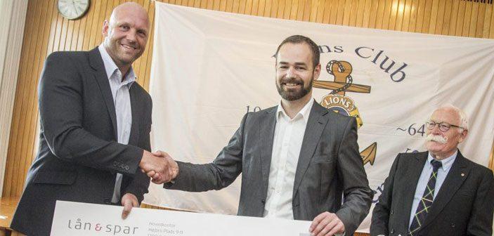 Lions Club donation overrakt af borgmesteren